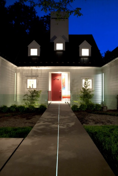 20 led lighting ideas for your home christopher lee company chris lee homes white outdoor led lighting aloadofball Image collections