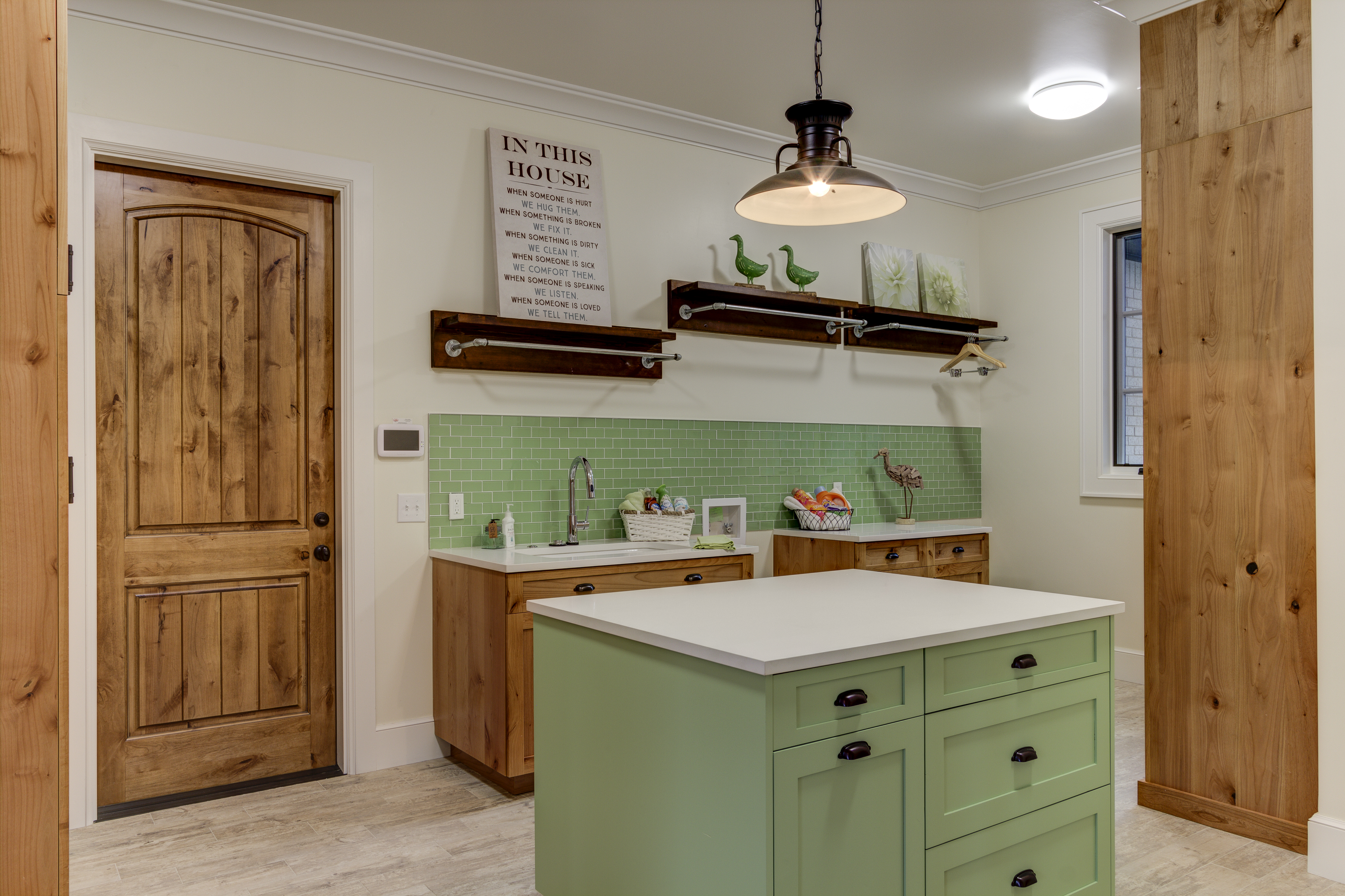 9 ways to use tile for a statement in your home chris lee homes bold color statement green tiles dailygadgetfo Gallery