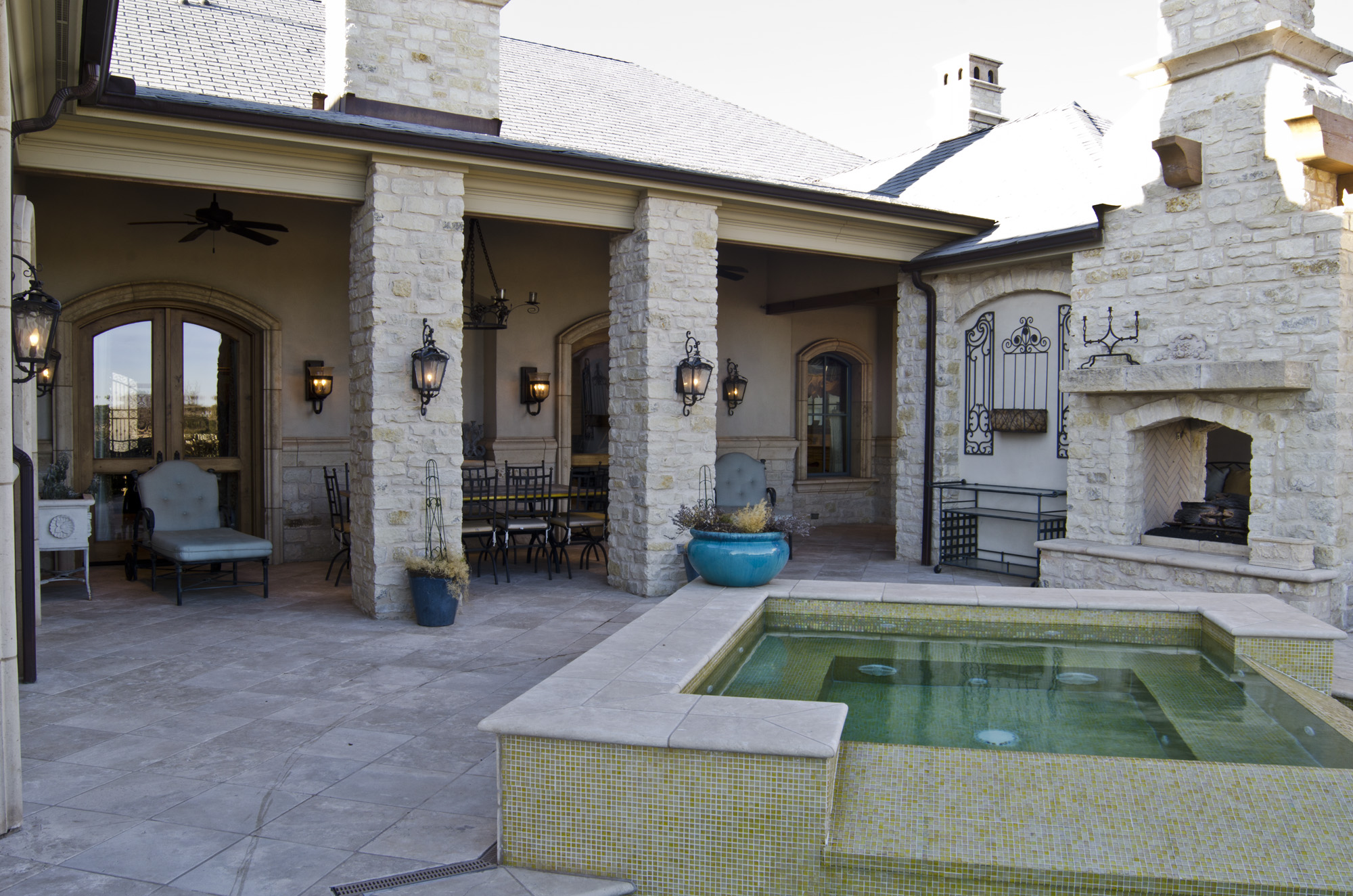 Featured project custom designed tuscan style build for Lee homes