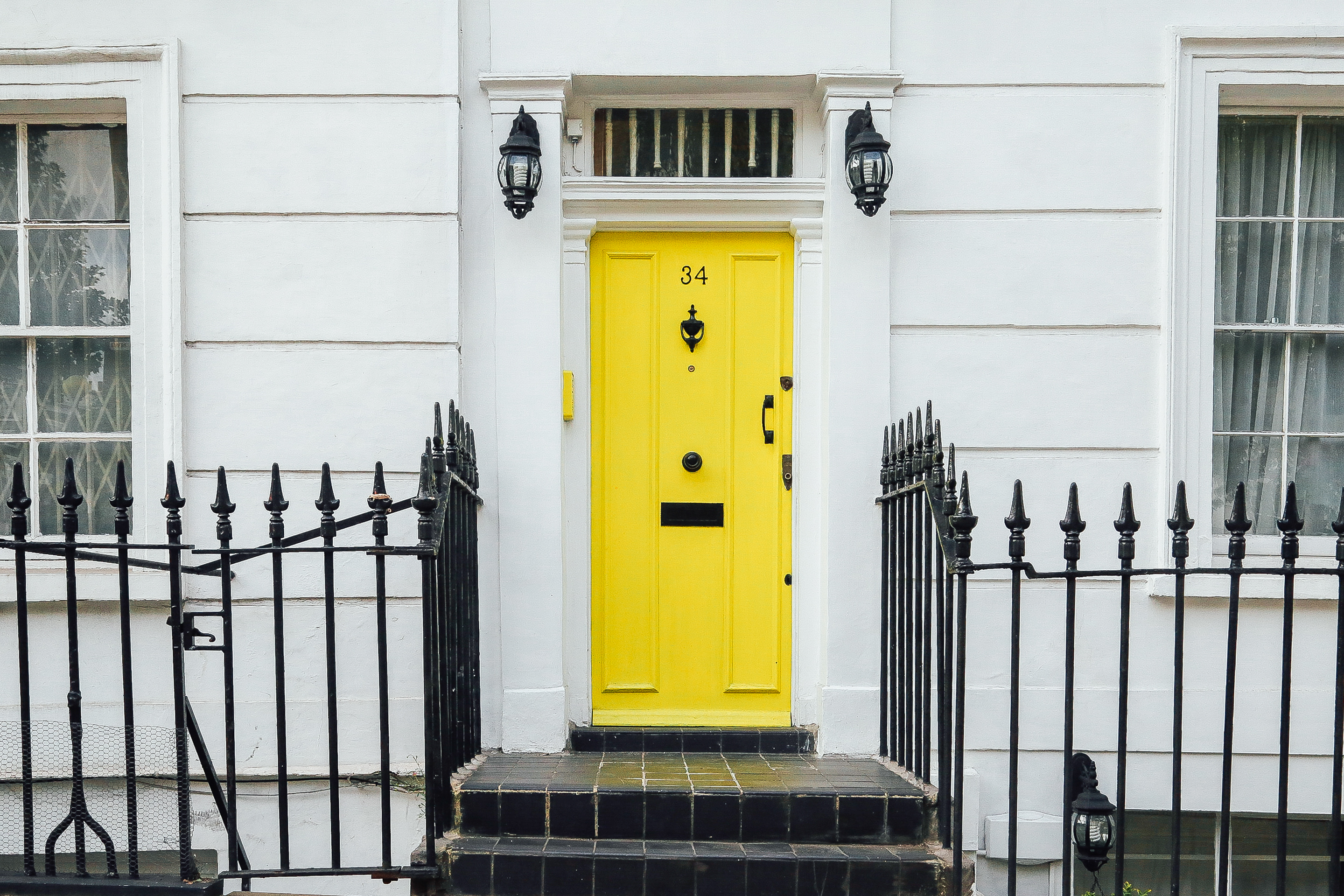 chris-lee-homes-bright-yellow-front-door & What Does Your Front Door Color Say About You? | Chris Lee Homes